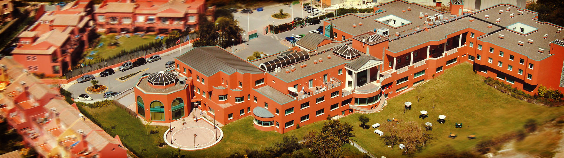 Les Roches Marbella Campus: aerial view