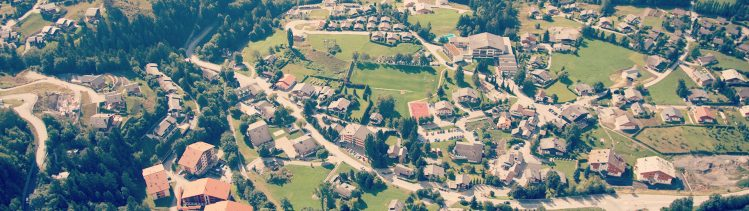 Les Roches Switzerland: aerial view
